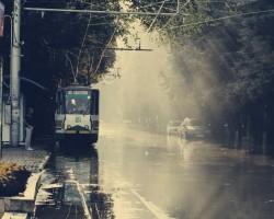 В Пятигорске дождь – трамваи остановились