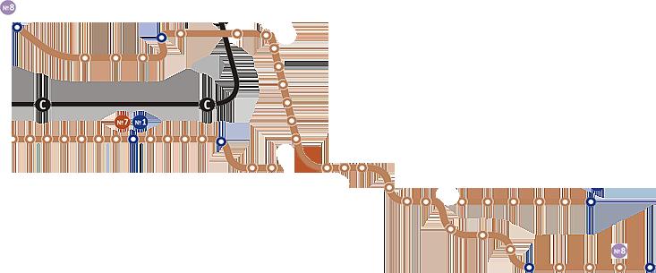 Схема трамвайных
