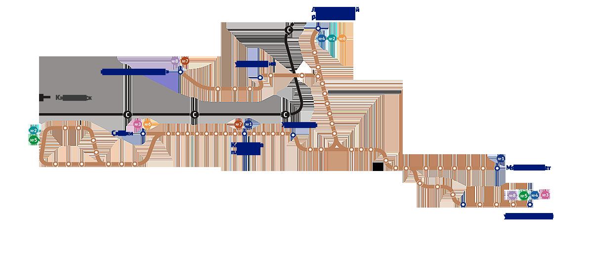Маршруты трамваев в Пятигорске
